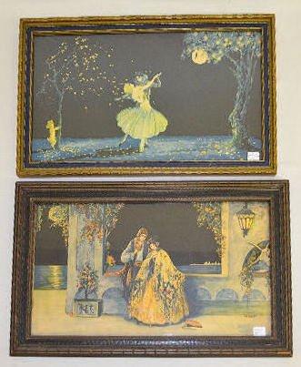 2 Vintage Marygold Prints, Lady & Cherub, Couple