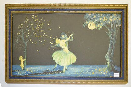 2 Vintage Marygold Prints, Lady & Cherub, Couple - 2