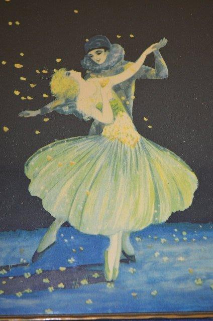 2 Vintage Marygold Prints, Lady & Cherub, Couple - 4