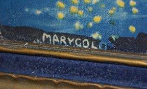 2 Vintage Marygold Prints, Lady & Cherub, Couple - 6