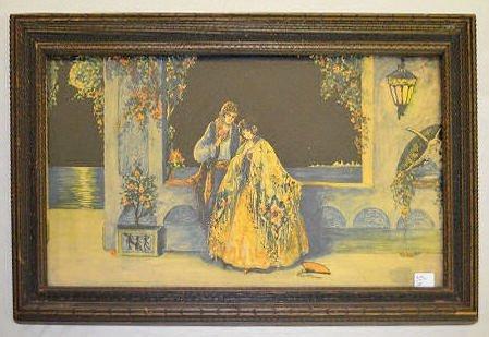 2 Vintage Marygold Prints, Lady & Cherub, Couple - 7