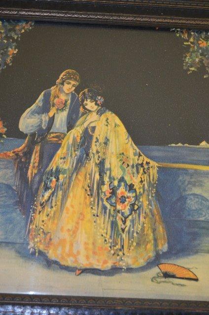 2 Vintage Marygold Prints, Lady & Cherub, Couple - 9