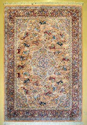 "Karastan Hunting Scene Persian Rug, 12' x 8' 8"""