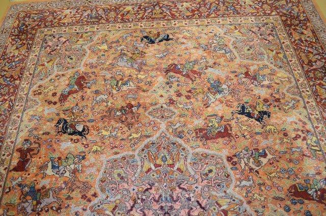 "Karastan Hunting Scene Persian Rug, 12' x 8' 8"" - 2"