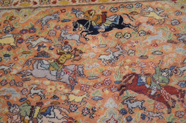 "Karastan Hunting Scene Persian Rug, 12' x 8' 8"" - 4"
