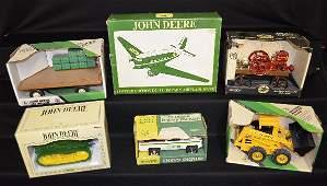 6 John Deere Toy Tractors