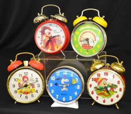 5 Character Alarm Clocks, Ronald McDonald +