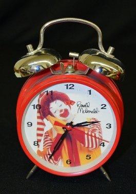 5 Character Alarm Clocks, Ronald McDonald + - 2