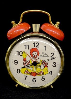 5 Character Alarm Clocks, Ronald McDonald + - 4