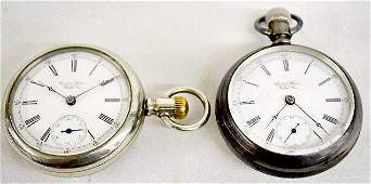 2 Pocket Watches  US Watch Co OF Waltham
