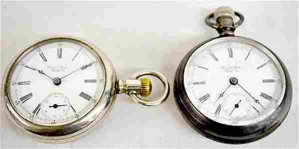 2 Pocket Watches, US Watch Co. OF Waltham
