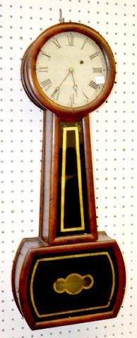 Antique American Weight Driven Banjo Clock