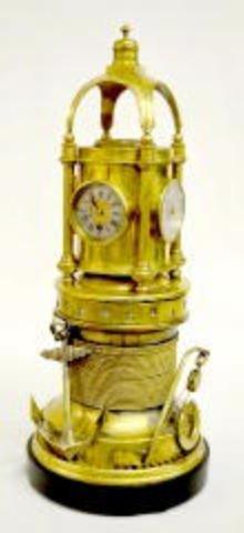 Brass 5 Dial Revolving Clock