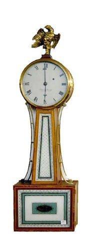 Elmer O. Stennes Weight Banjo Clock