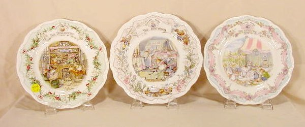 454: 10 Royal Doulton Brambly Hedge Plates