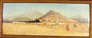 """H. D. Pohl oil """"In Old Mexico"""""""
