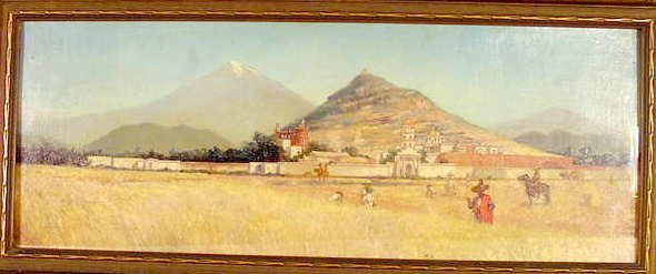 """1002: H. D. Pohl oil """"In Old Mexico"""""""