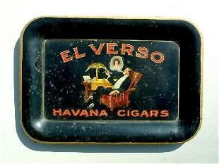 El Verso advertising tray