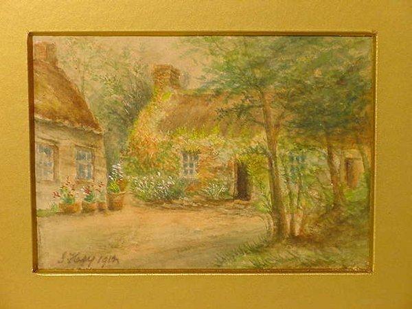 1007: Kacy British watercolor Lavelte Cottage