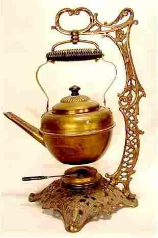 Bradley & Hubbard teapot on stand