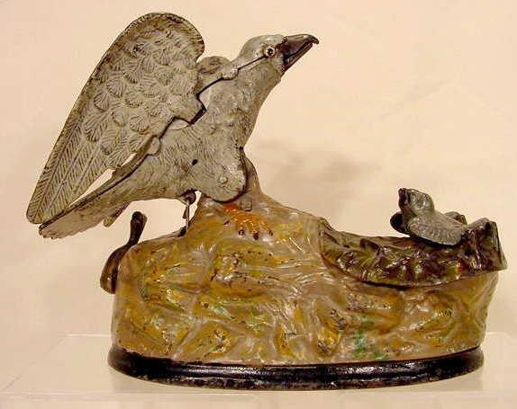 1013: Eagle & Eaglets mechanical bank