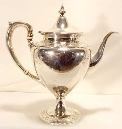 1015: Sterling coffee pot