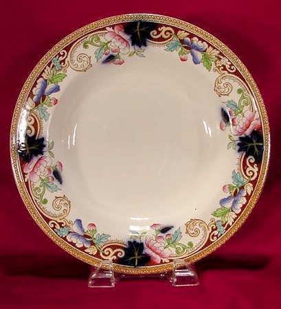 1020B: 8 pc. George Jones  soup plates