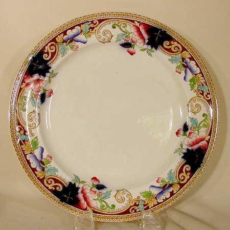 1020C: 12 pc. George Jones  dinner plates
