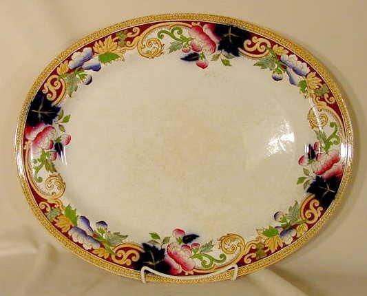 "1020E: unmarked George Jones 19 1/2"" platter"