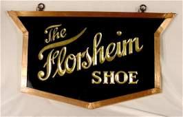 1111: Florsheim Shoe Hanging Adv. Sign