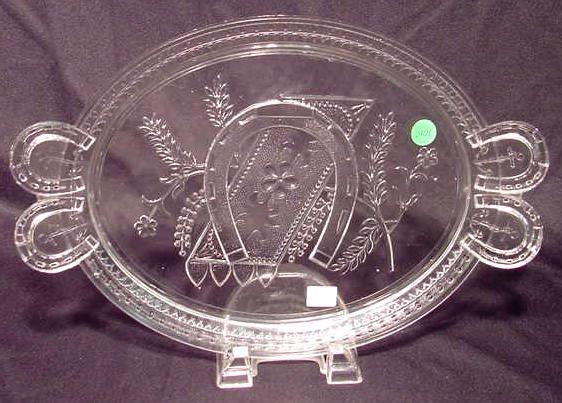 1010: Westward Ho Clear Handled Bread Plate NR