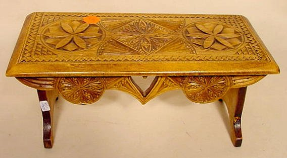 5: Chip Carved Wooden Doll Bench, circa 1900 NR