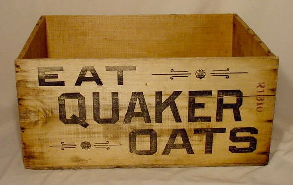 8: Wood Quakers Oats Packing Crate NR