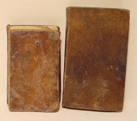 9: 2 Early Leather Bound Books, One from 1798 NR