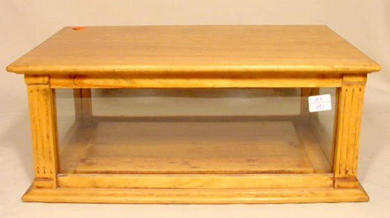11: Mixed Wood Country Store Lift Top Display Case NR