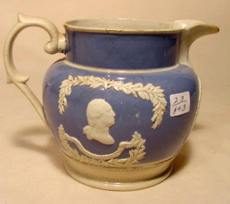 15: Staffordshire type Washington & Franklin Pitcher