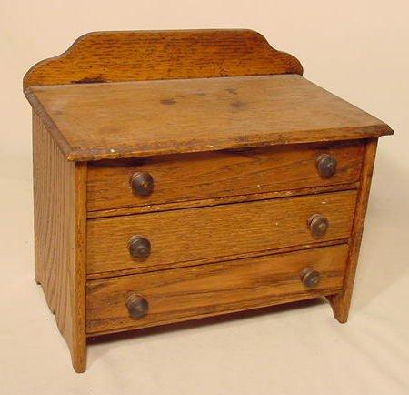 21: Oak 3 Drawer Child's Chest NR