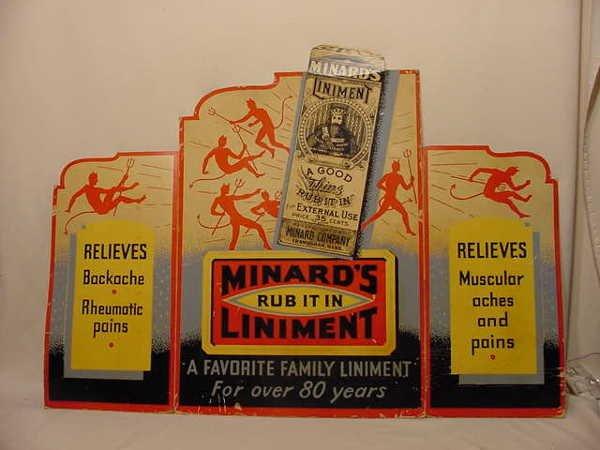 24A: Minard's Liniment Fold Out Cardboard Adv Display