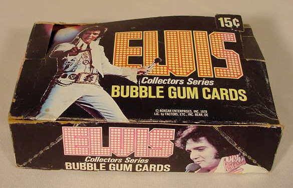 1010: 17 Elvis Collectors Series Bubble Gum Cards NR