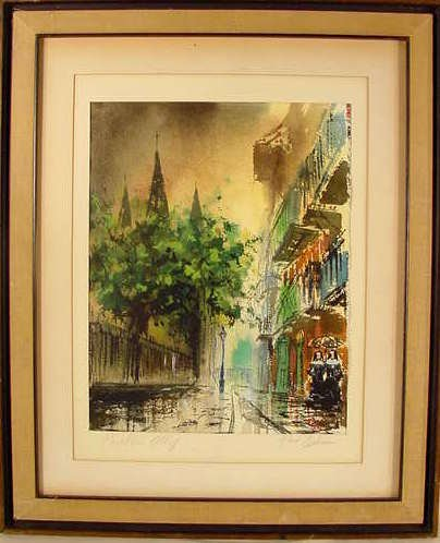 1022: Pirates Alley New Orleans Watercolor on Paper NR