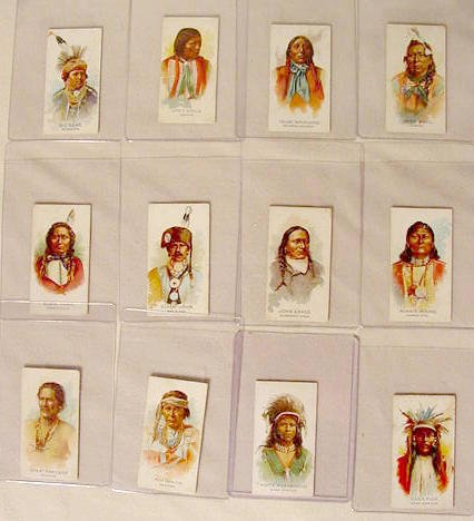 1258: 30 Allen & Ginter Indian Chief Trade Cards NR