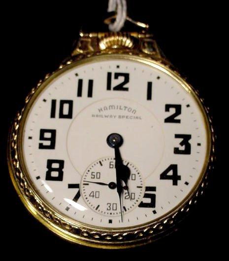1: Hamilton 992B 21J 16S Pocket Watch NR