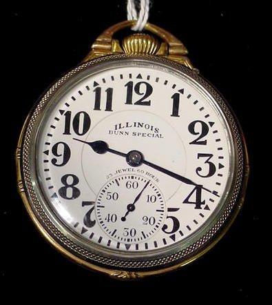 3: Illinois Bunn Special 163 23J 16S Pocket Watch NR