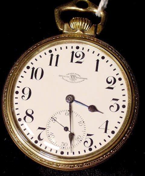 4: Ball Railroad Standard 23J 16S Pocket Watch NR