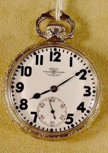 5: Ball Railroad Standard 21J 16S Pocket Watch NR