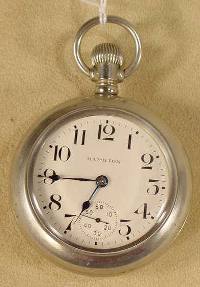 6: Hamilton 924 17J 18S LS Pocket Watch NR