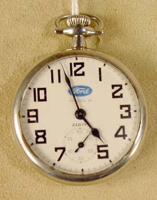 136: Elgin Ford Model A Dial 17J 16S Pocket Watch NR