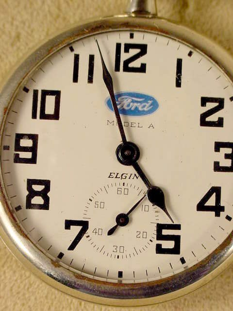 136: Elgin Ford Model A Dial 17J 16S Pocket Watch NR - 2