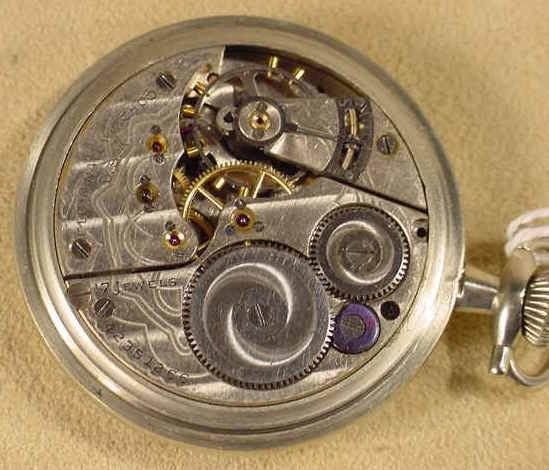 136: Elgin Ford Model A Dial 17J 16S Pocket Watch NR - 4