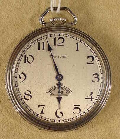 137: Hamilton 912 7J 12S Pocket Watch NR